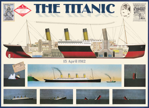 Titanic - White Star Line Boats Jigsaw Puzzle