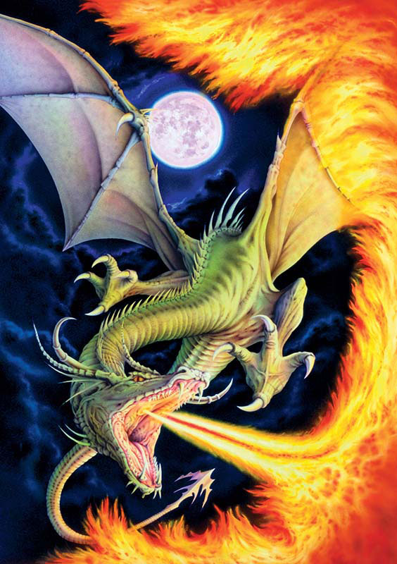 Dragon of Fire Dragons Jigsaw Puzzle