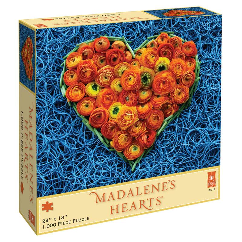 Madalene's Hearts - Roses Flowers Jigsaw Puzzle