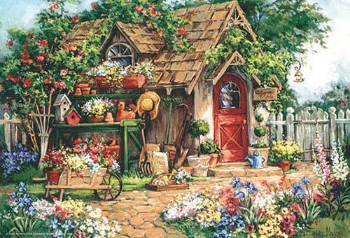 Gardener's Heaven Flowers Jigsaw Puzzle