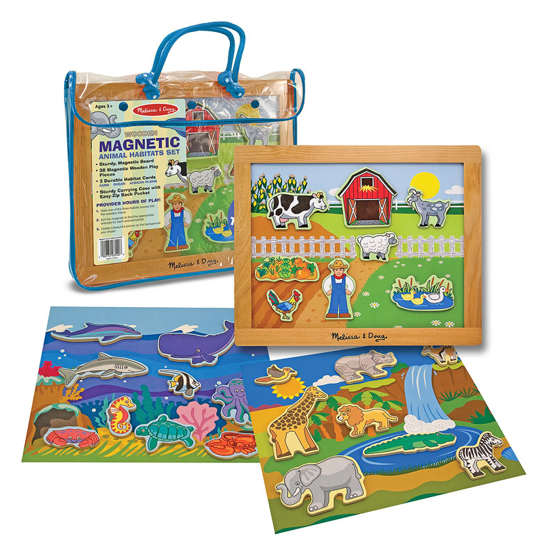 Magnetic Animal Habitats Set Educational Toy