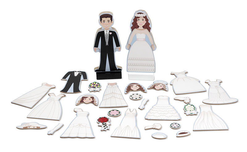 Bride and Groom Magnetic Dress-Up People Toy