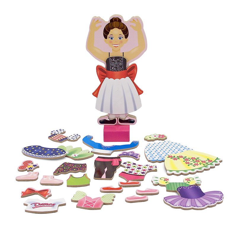Nina Ballerina Magnetic Dress-Up People Toy