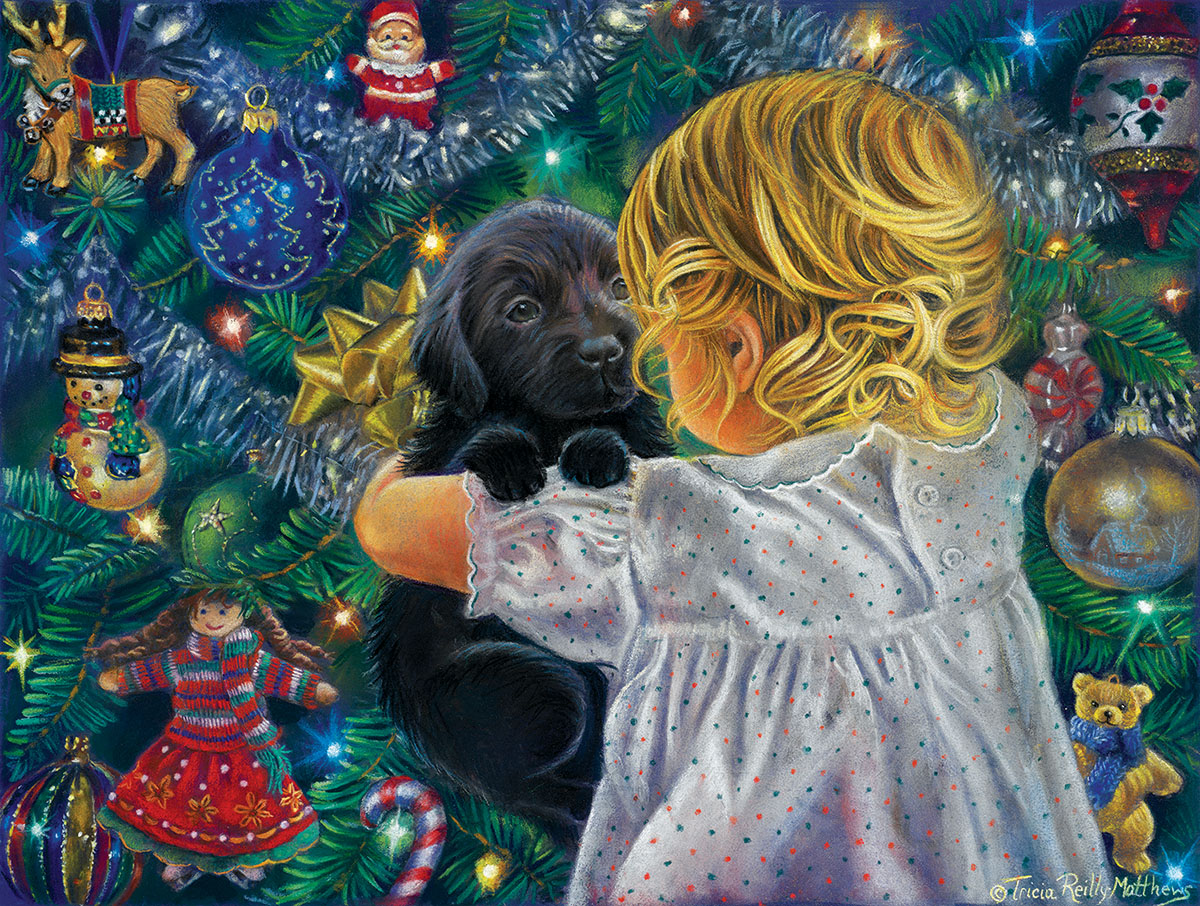 Puppy for Christmas - Scratch and Dent Christmas Jigsaw Puzzle
