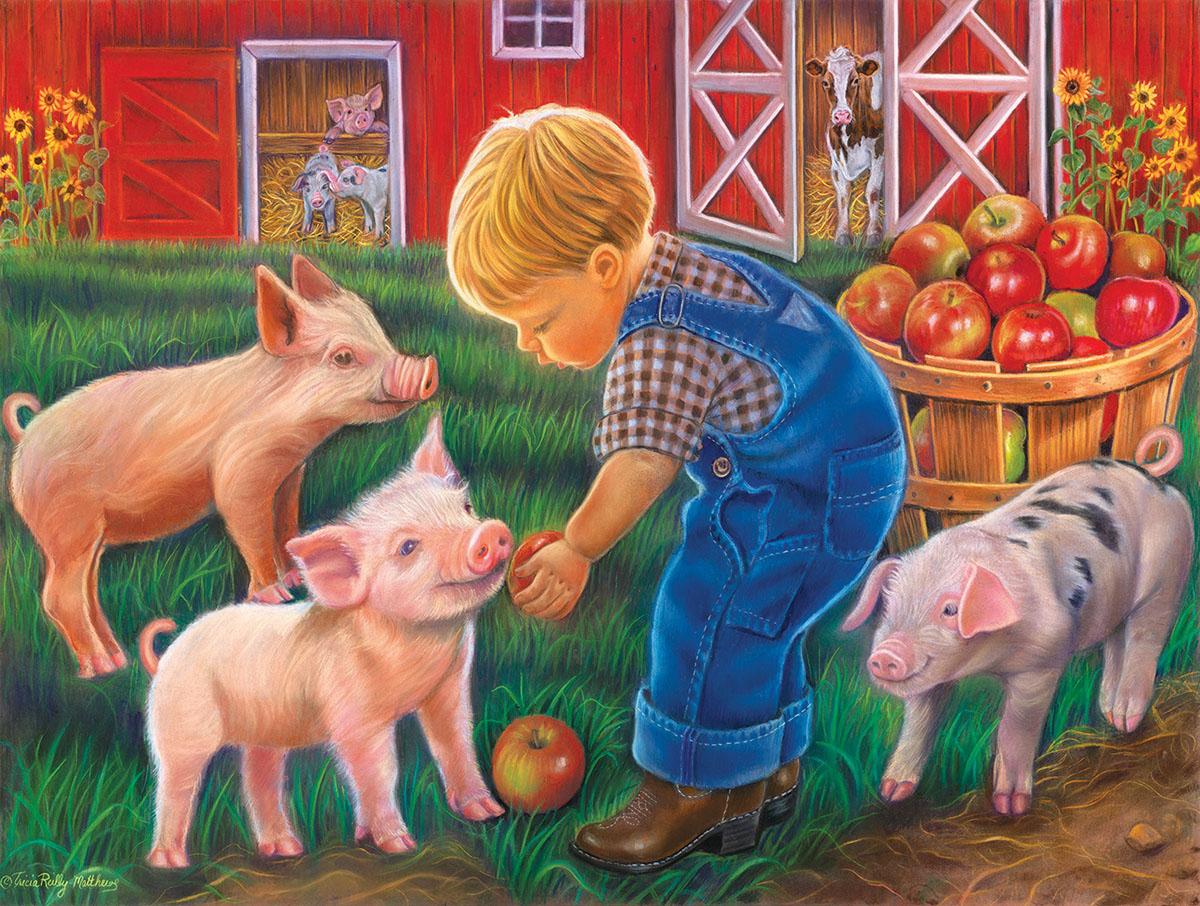 Farm Boy Farm Jigsaw Puzzle
