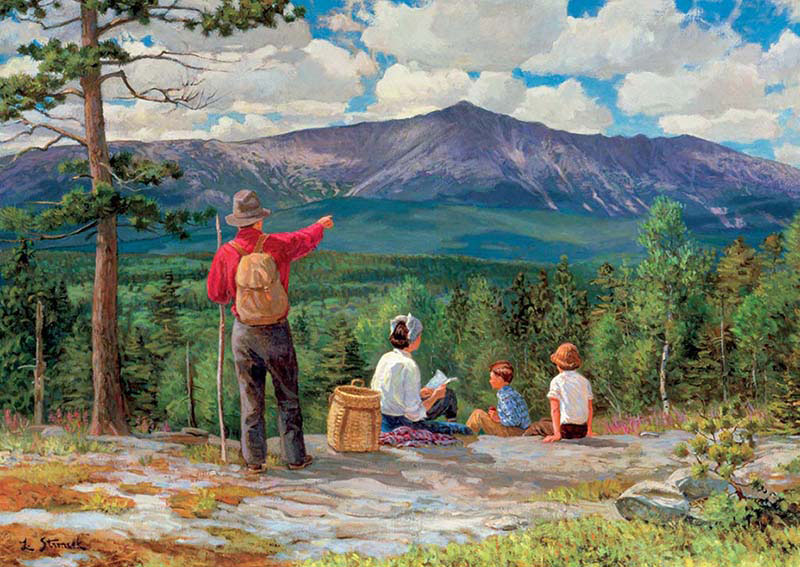 Family Picnic Mountains Jigsaw Puzzle