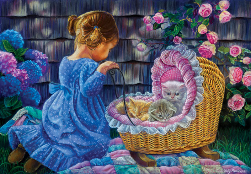 Tender Moments Cats Jigsaw Puzzle