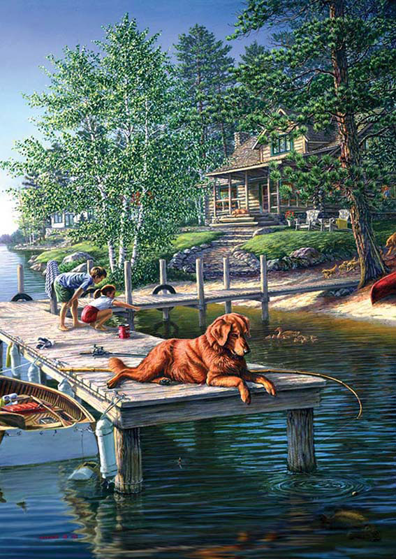 Summer Vacation Dogs Jigsaw Puzzle