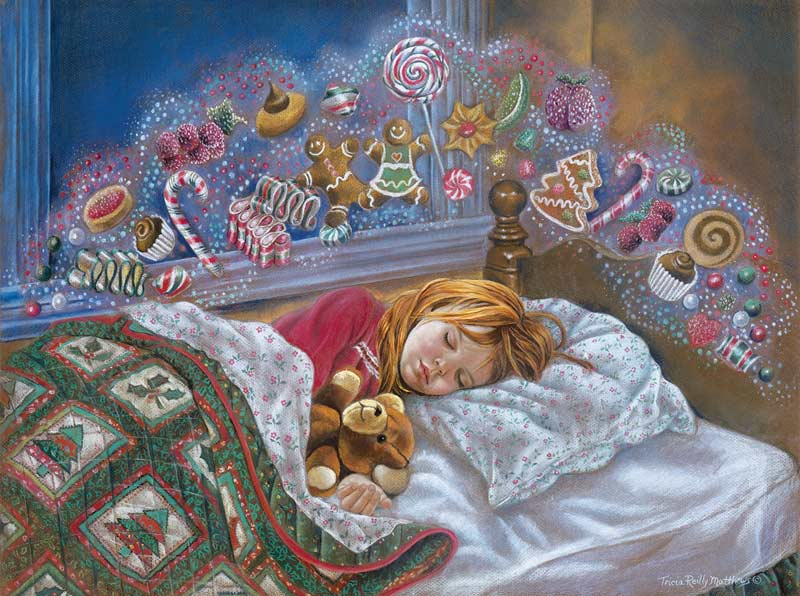 Visions of Sugar Plums Christmas Jigsaw Puzzle
