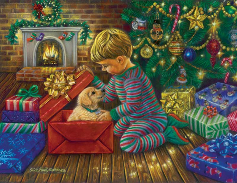 A Golden Christmas Christmas Jigsaw Puzzle
