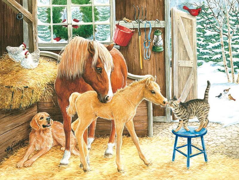 Making Friends Horses Jigsaw Puzzle