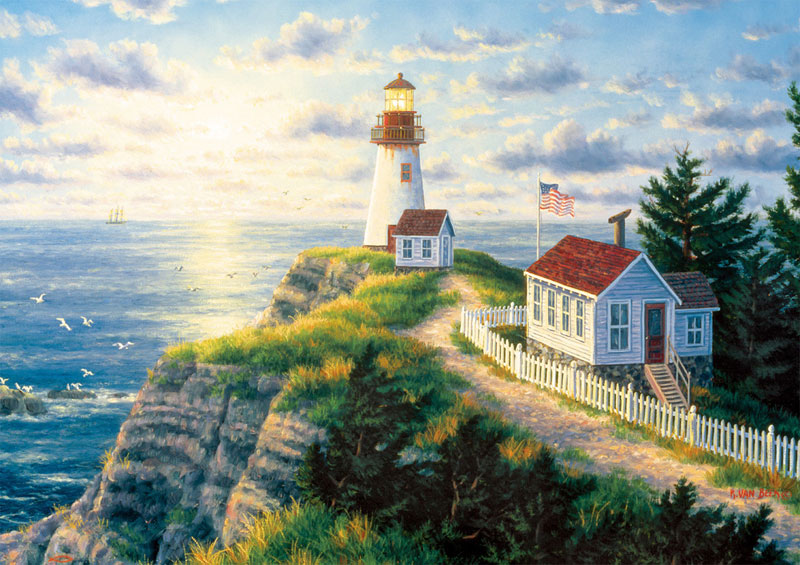 Dawn's Early Light Lighthouses Jigsaw Puzzle