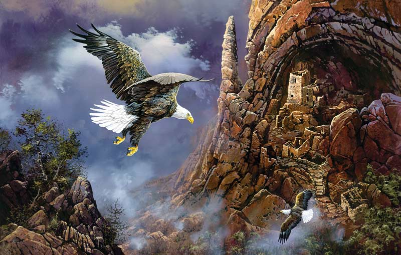 Guardians of the Past Eagles Jigsaw Puzzle