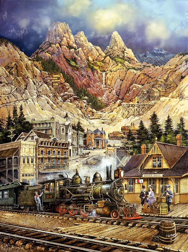 Silver Gulch Departure Mountains Jigsaw Puzzle