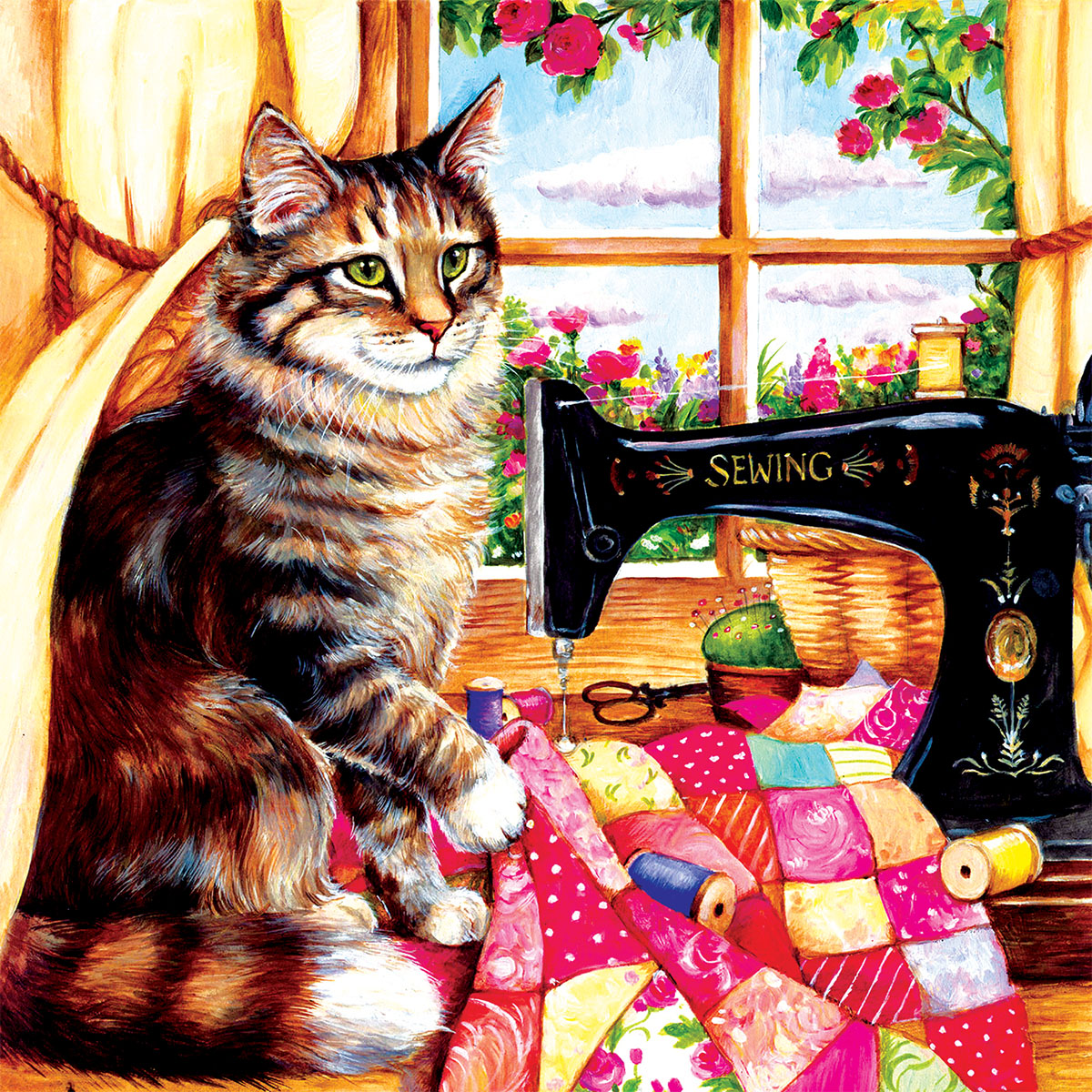 The Seamstress Cats Jigsaw Puzzle