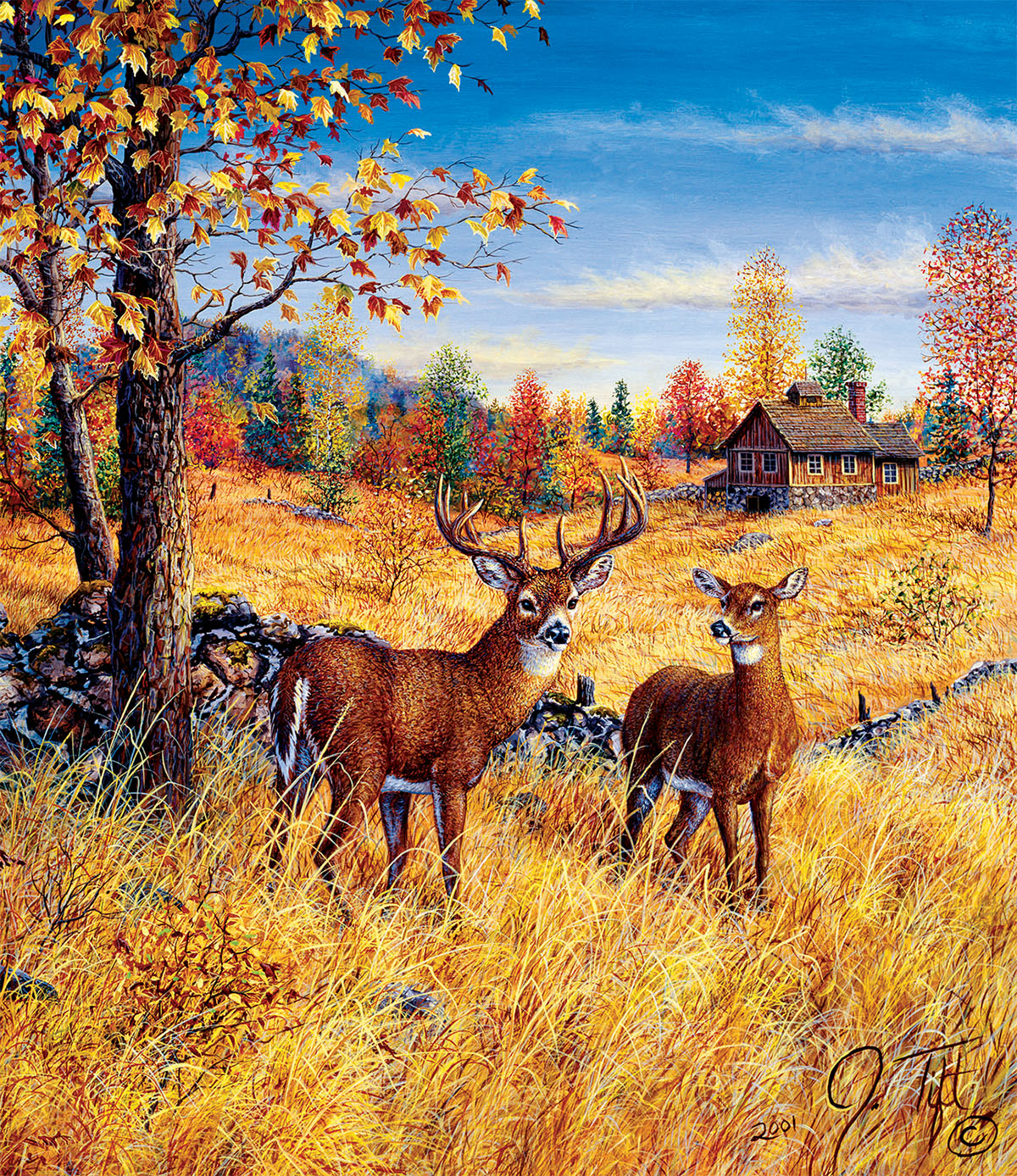 Colors of Autumn Animals Jigsaw Puzzle