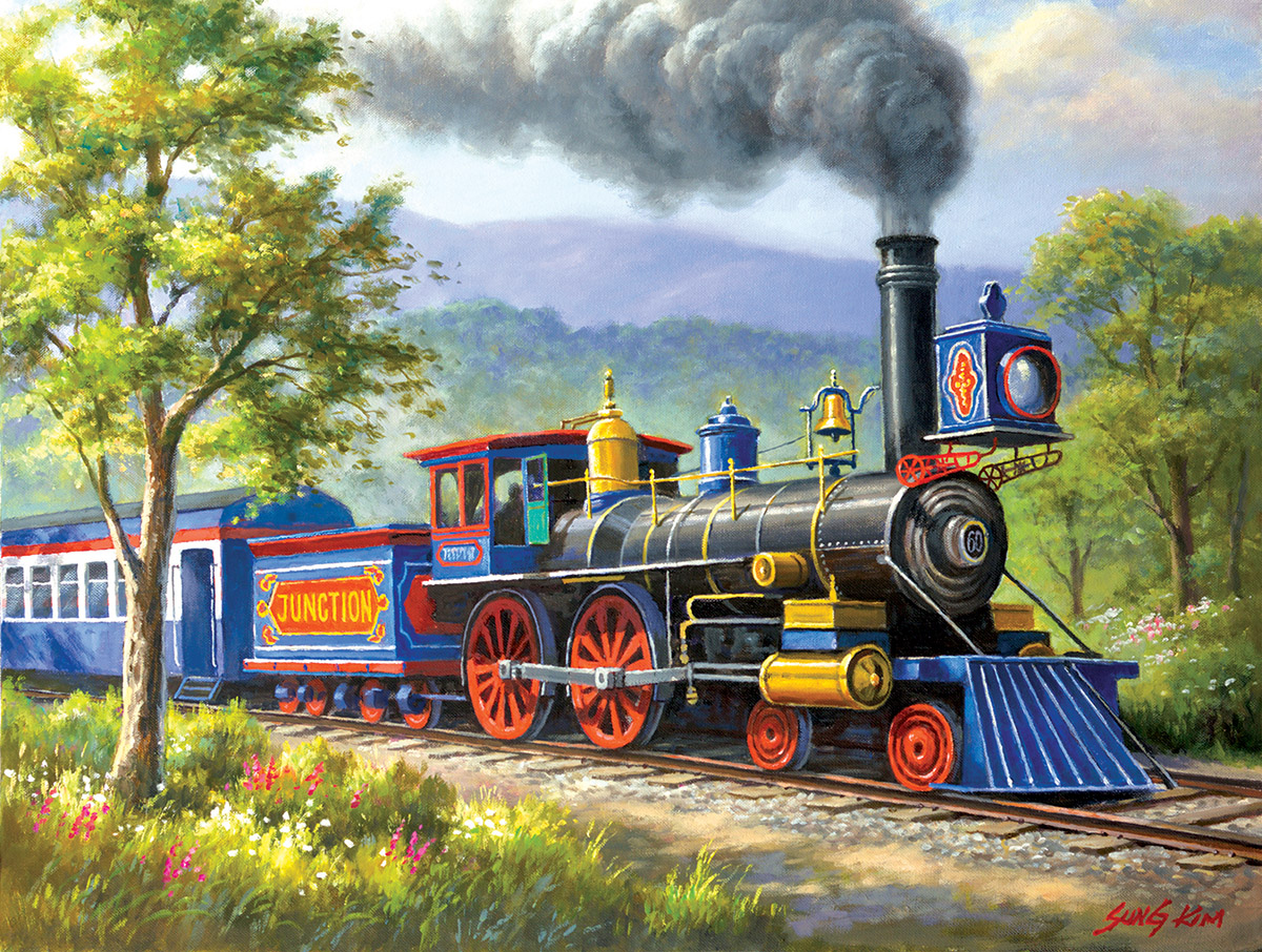 The Junction Express Trains Jigsaw Puzzle