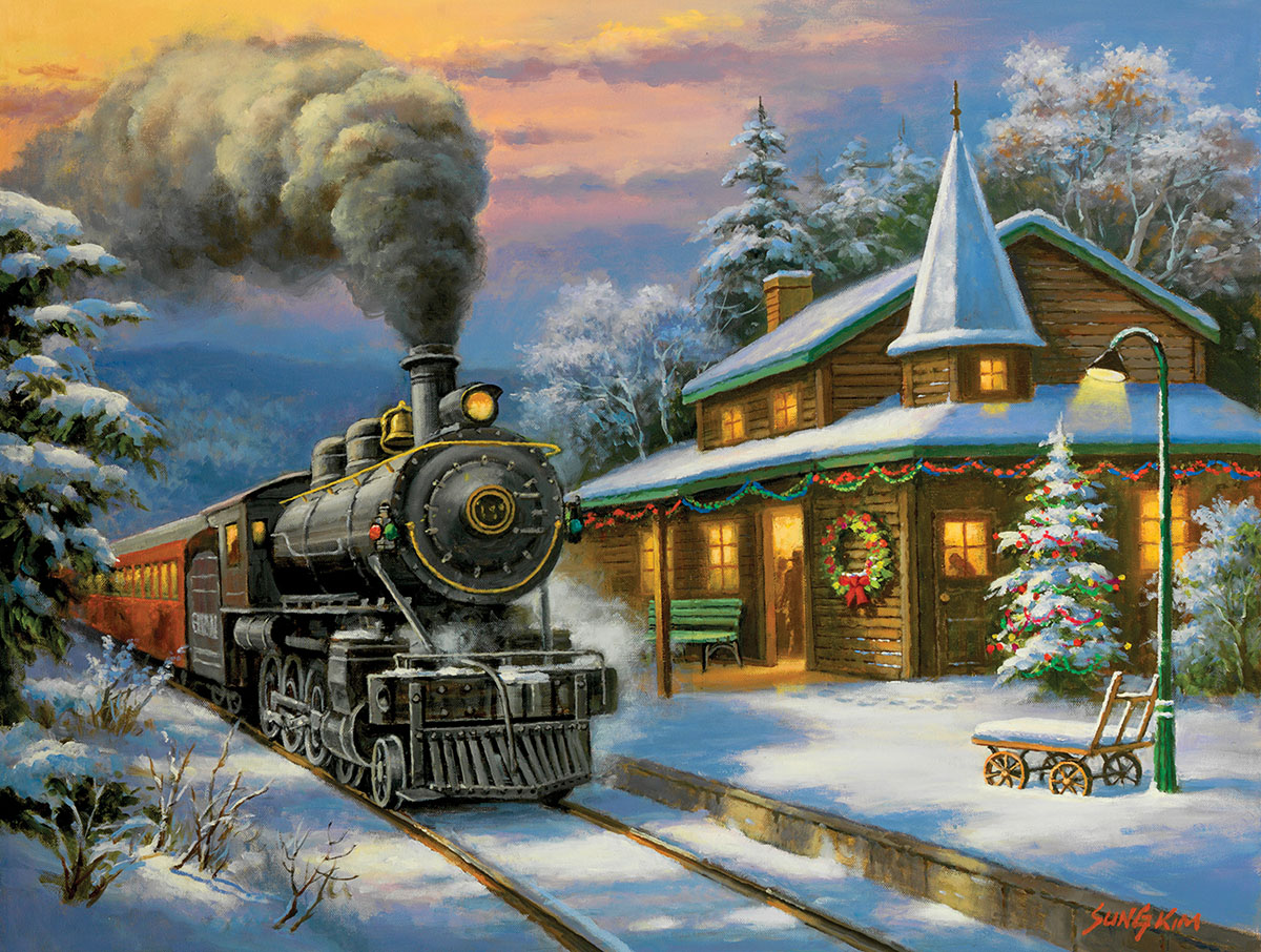 Holiday Ltd. - Scratch and Dent Trains Jigsaw Puzzle