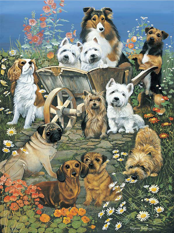 Garden Party Dogs Jigsaw Puzzle