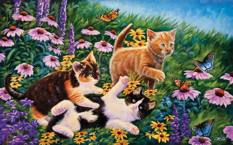 Carefree Days Cats Jigsaw Puzzle