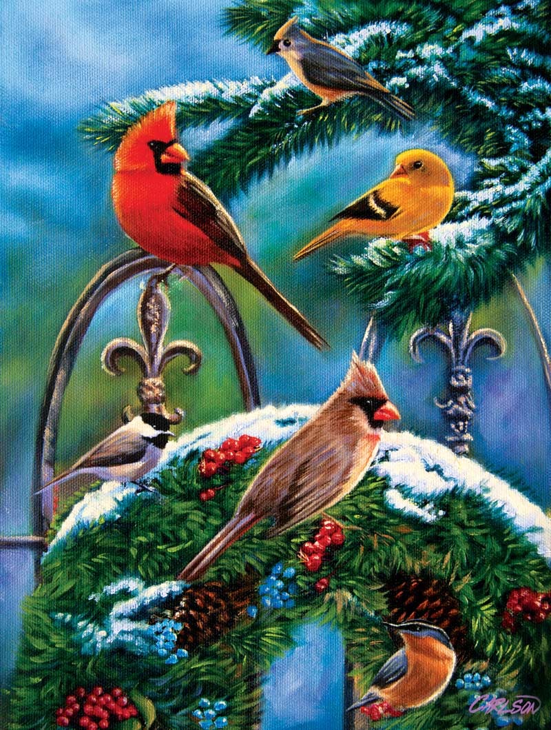 Winter Cheer Birds Jigsaw Puzzle