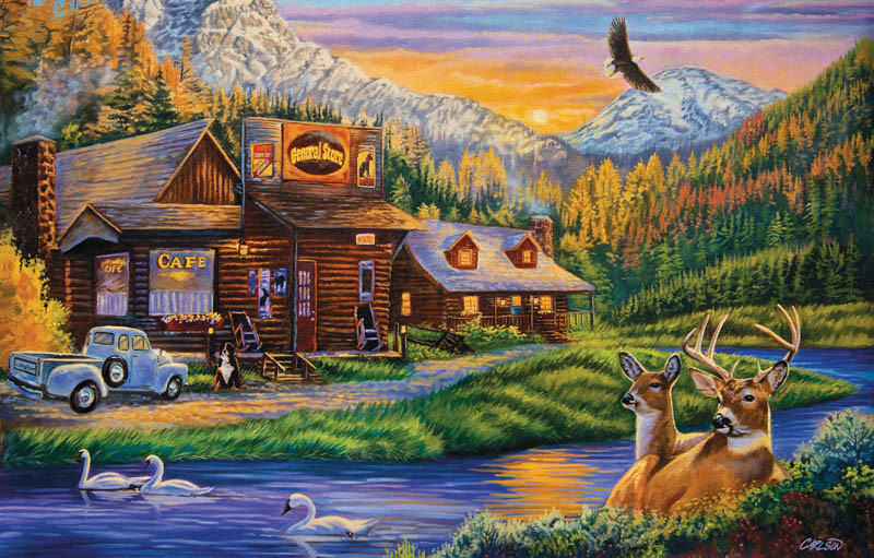 Mountain Oasis General Store Jigsaw Puzzle