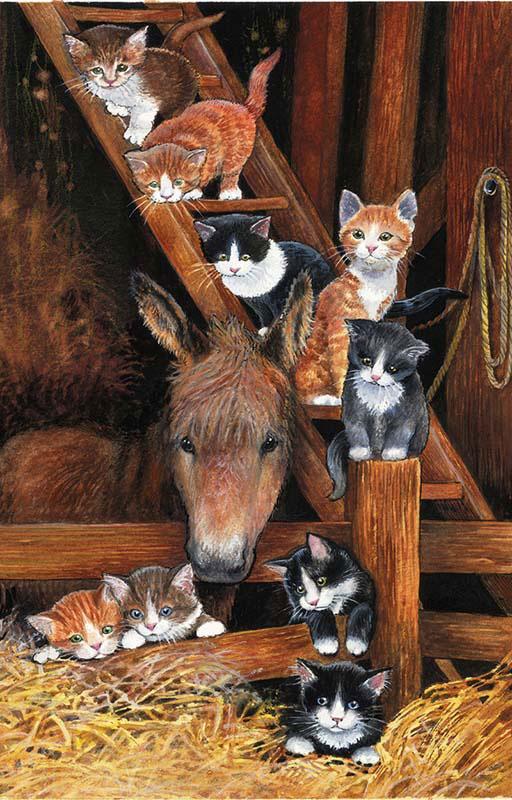 Barn Cats Cats Jigsaw Puzzle