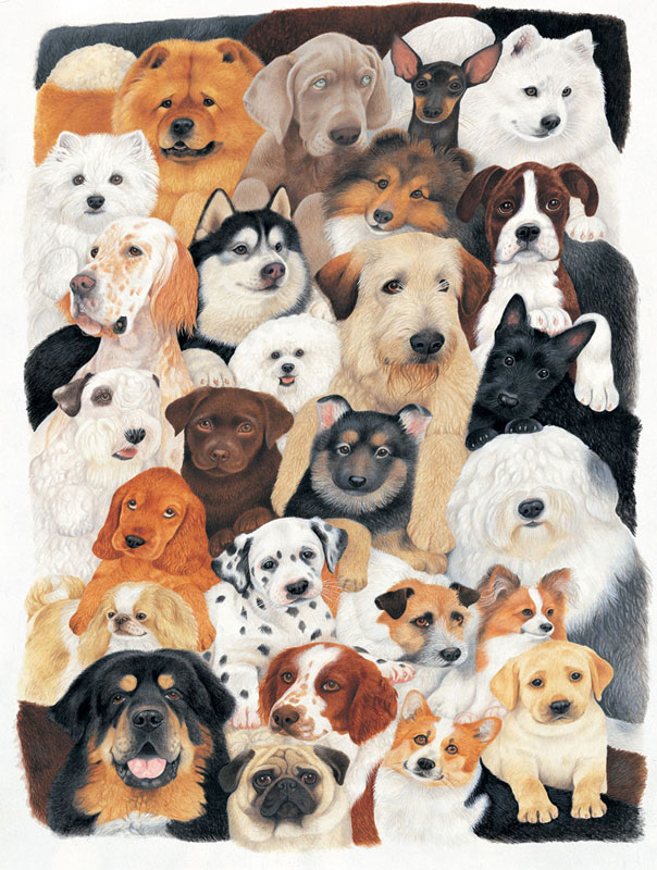 Dog Collage Dogs Jigsaw Puzzle