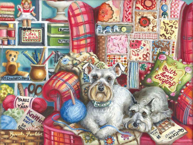 Crafty Dogs Jigsaw Puzzle