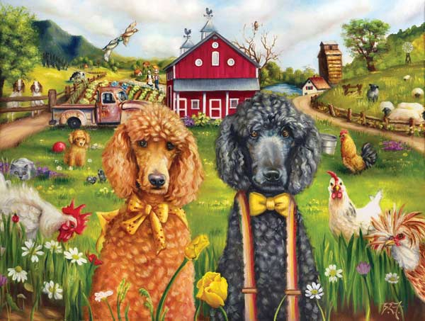 A Day in the Life Dogs Jigsaw Puzzle