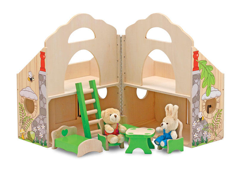 Fold & Go Woodland Treehouse Other Animals Toy