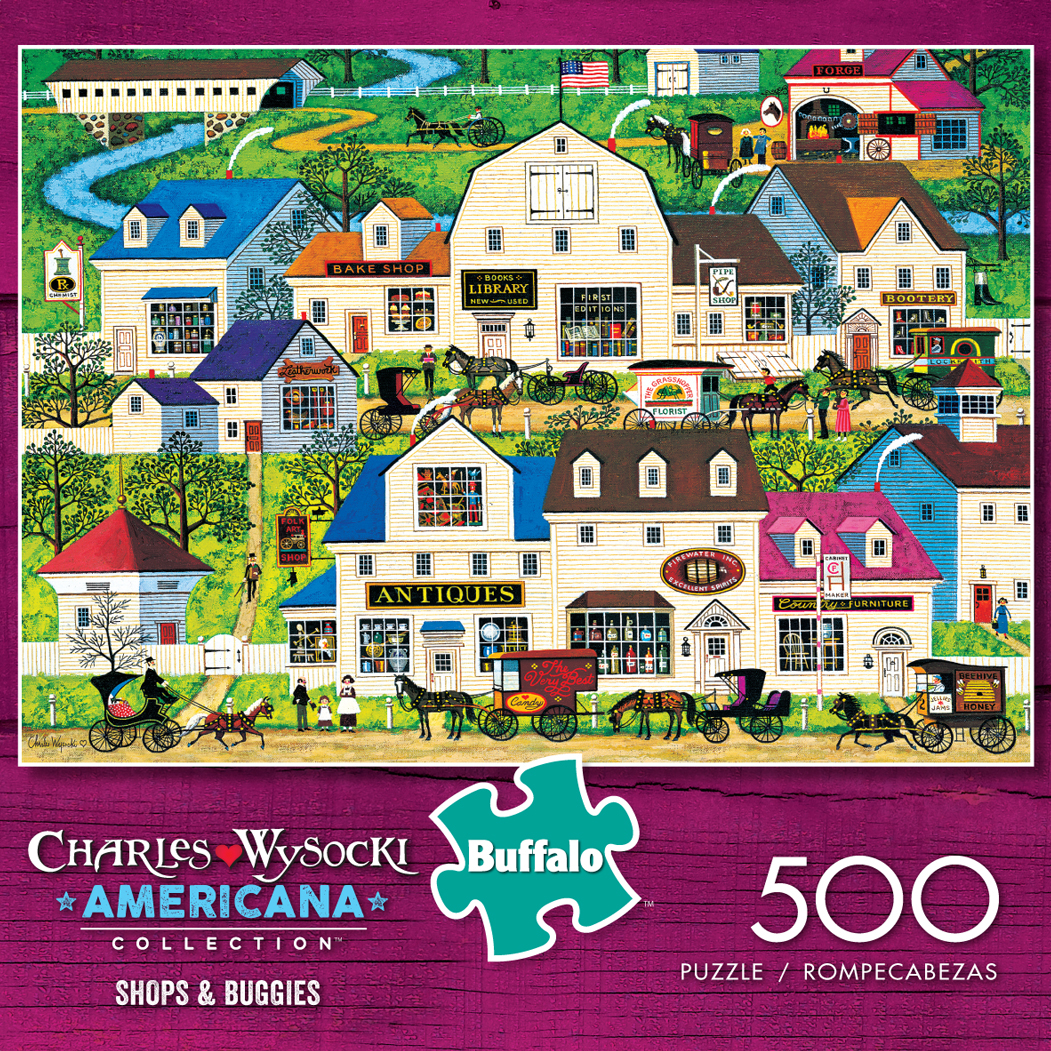 Shops Amp Buggies Americana Collection Jigsaw Puzzle