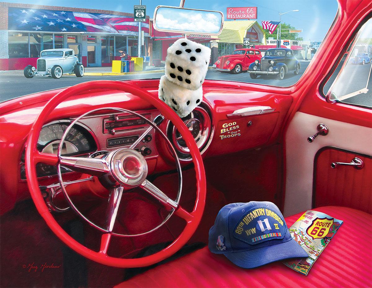 American Car Patriotic Jigsaw Puzzle