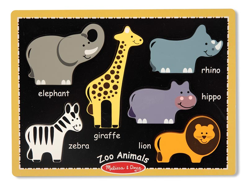 My First Chunky Puzzle - Zoo Animals Jungle Animals Chunky Puzzle