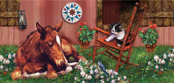 Keeping Company Horses Jigsaw Puzzle