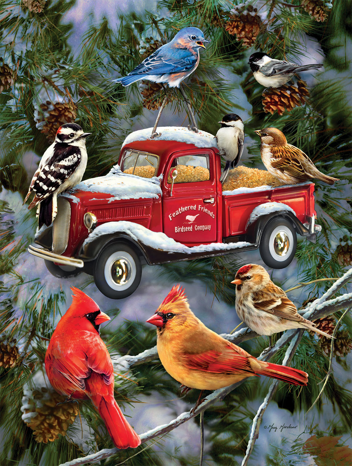 Pickup Feeder Birds Jigsaw Puzzle