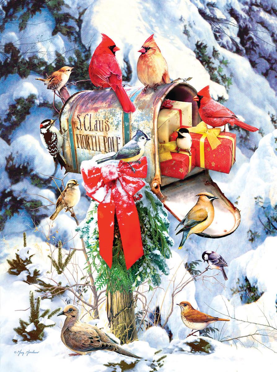 Santa's Mailbox Birds Jigsaw Puzzle