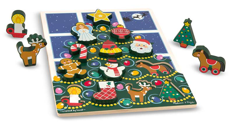 Christmas Tree Chunky Puzzle Christmas Children's Puzzles