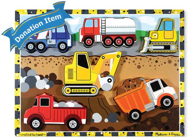 Life Skills - Construction Chunky Puzzle Vehicles Jigsaw Puzzle