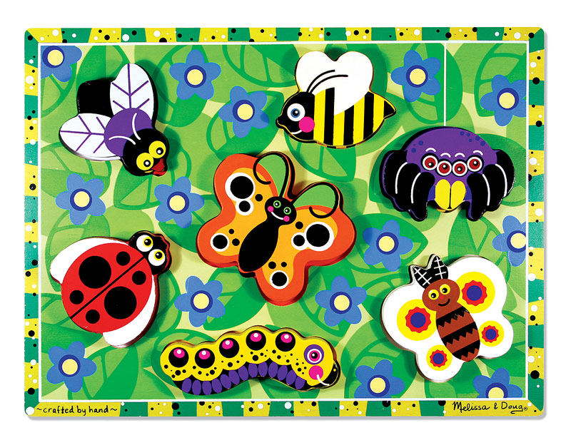 Chunky Puzzle - Insects Butterflies and Insects Children's Puzzles