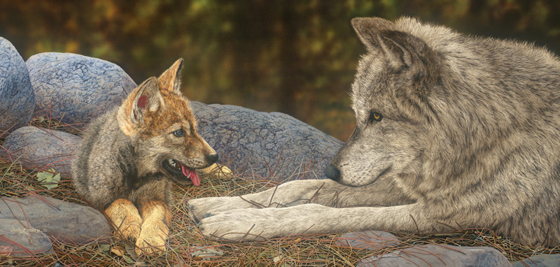 The Lesson Wolves Jigsaw Puzzle