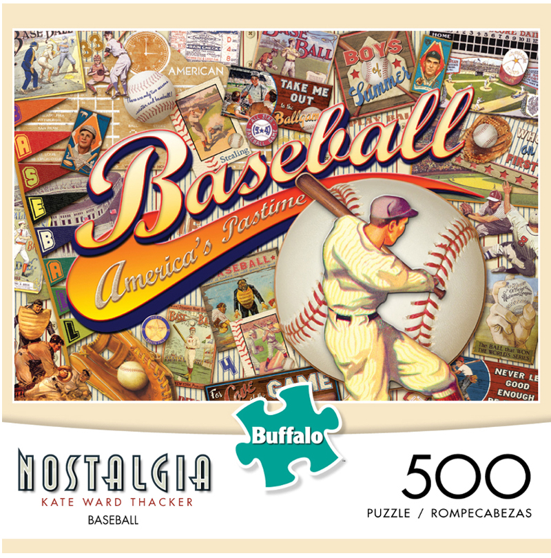 Baseball (Nostalgia) Sports Jigsaw Puzzle