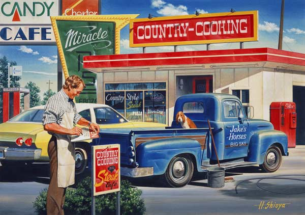 Country Cooking Cars Jigsaw Puzzle