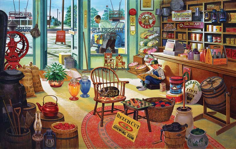 Russels General Store Everyday Objects Jigsaw Puzzle