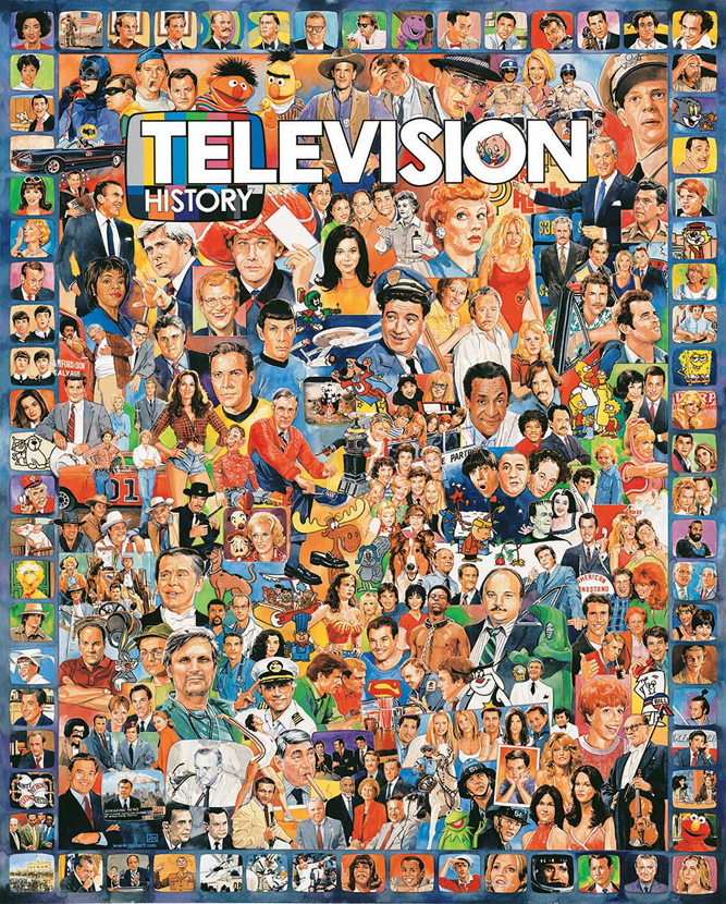 Television History Collage Jigsaw Puzzle