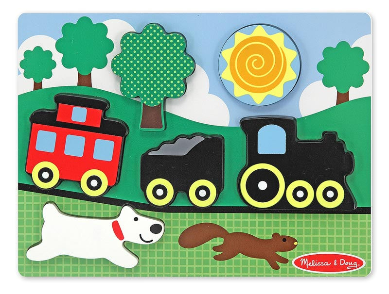 Chunky Puzzle Scenes - Red Caboose Trains Children's Puzzles