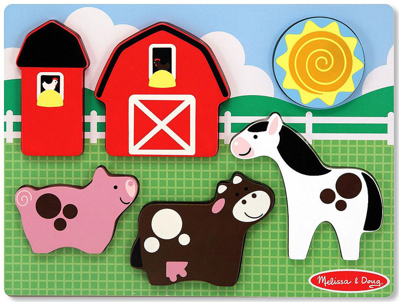 Chunky Puzzle Scenes - Barnyard Fun Farm Animals Children's Puzzles