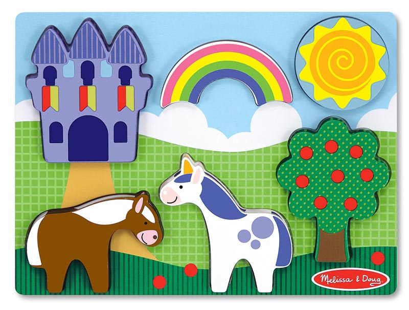 Chunky Puzzle Scenes - Fantasy Castle Fantasy Children's Puzzles