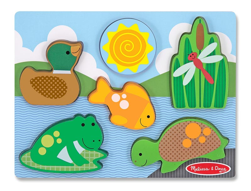 Chunky Puzzle Scenes - Pond Play Reptiles and Amphibians Chunky Puzzle
