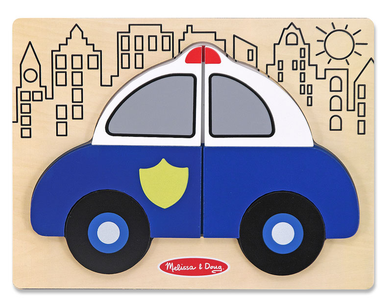 My First Chunky Puzzle - Police Car Vehicles Jigsaw Puzzle